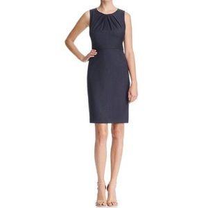 Ellie Tehari black career dress pleated top size 0